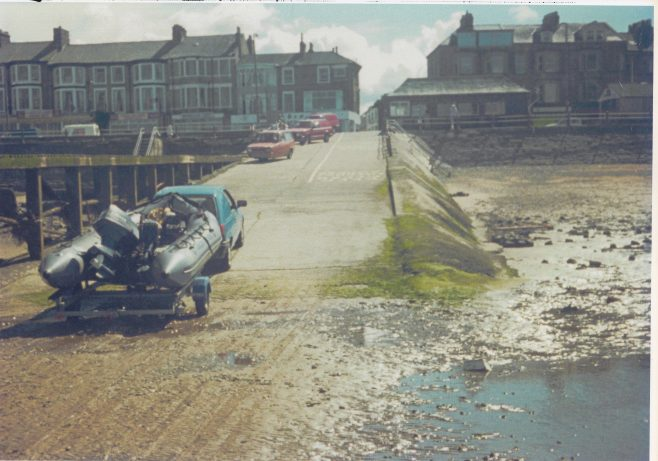 Green Street cart-road with the Fisheries patrol zodiac
