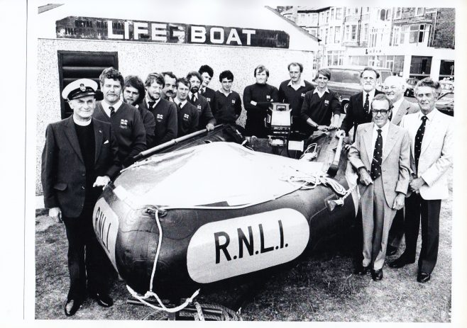 The crew and volunteers of the Morecambe Inshore Lifeboat | Keith Willacy collection