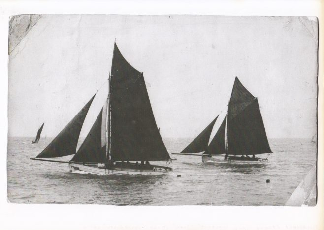 Fishing boats sailing in Morecambe Bay. | Keith Willacy collection