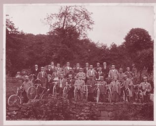 Photographs of cyclist possibly at  Furness Abbey early 1900s  BDX 659  | Copyright: Cumbria Archive and Local Studies Centre, Barrow-in-Furness
