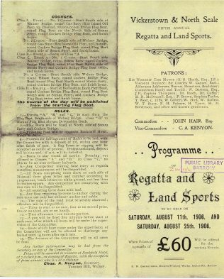 Programme for  a regatta and land sports detailing sailing races in Walney Channel- Furness Collection Z2451  | Copyright: Cumbria Archive and Local Studies Centre, Barrow-in-Furness