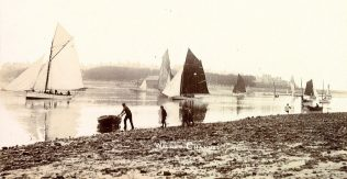 Sailing on Walney Channel in about 1905 - BLC 280/SY/WAL 2 | Copyright: Cumbria Archive and Local Studies Centre, Barrow-in-Furness