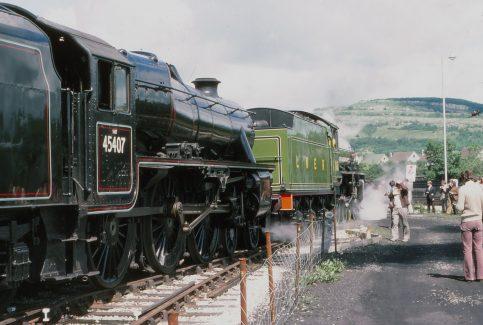 Around Warton Crag - Railway Views - Image 03 -  getting up steam in 1976
