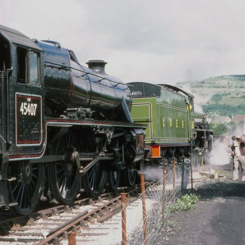 Around Warton Crag - Railway Views - Image 03 -  getting up steam in 1976
