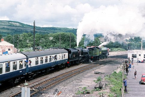 Around Warton Crag - Railway Views - Image 04 -  leaving Carnforth in 1976