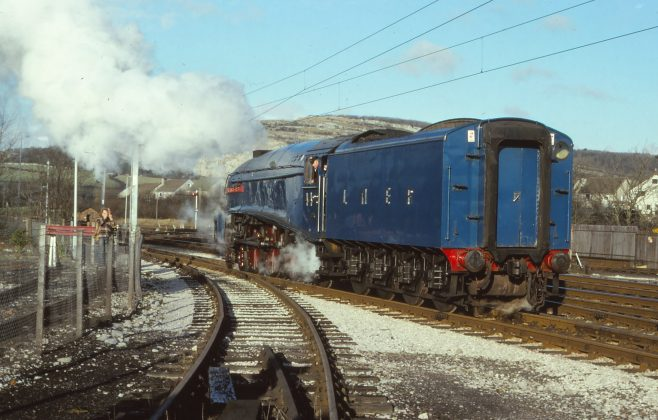 Around Warton Crag - Railway Views - Image 05 - backing onto the train in 1979 | Steve King