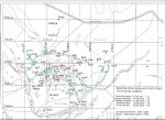 Archaeological Survey Map of results from Warton Crag field-walking between 2014-2016 by White Cross Archaeology Group