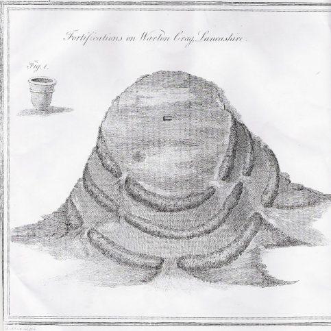 1788 Hutchinson drawing of Warton Crag Hillfort