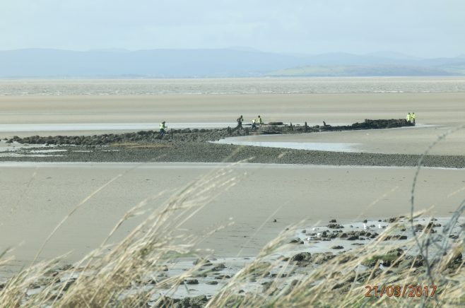 Hest Bank Jetty surveying - from the Shore - Image 01