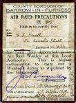 ARP Card, 1940